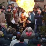 Feuerball erhellt Neukirchen