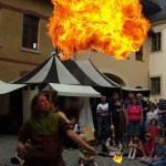 Feuershow in Oelsnitz